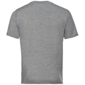 NATURAL 100% MERINO WARM-basislaag-T-shirt voor heren, grey melange - black, large