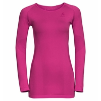 Women's ESSENTIALS SEAMLESS WARM Long-Sleeve Base Layer Top, pink glo, large