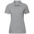 NEW TRIM Poloshirt, grey melange, large