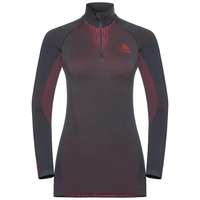 Maglia Base Layer a collo alto con 1/2 zip a manica lunga PERFORMANCE WARM da donna, odyssey gray - diva pink, large