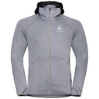 Men's SIMON Midlayer Hoody, odlo concrete grey melange, large