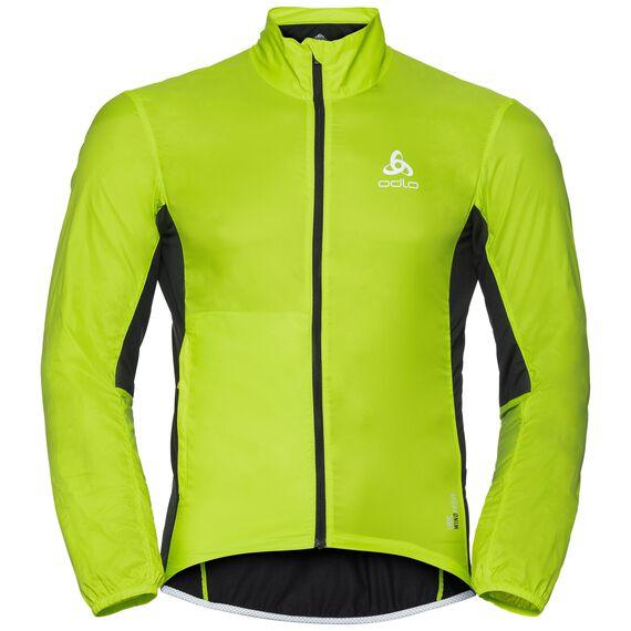 Jacket FUJIN, acid lime - black, large
