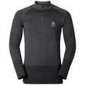 QUAGG seamless running pullover half-zip, odlo graphite grey - grey melange, large
