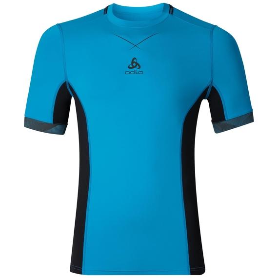 Ceramicool pro baselayer shirt men, blue jewel - black, large