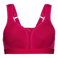 Gepolsterter Damen HIGH Sport-BH, cerise, large