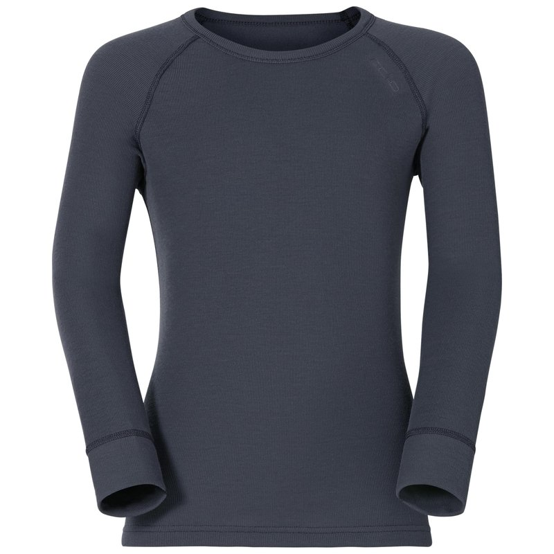 ACTIVE WARM KIDS Long-Sleeve Base Layer Top, india ink, large