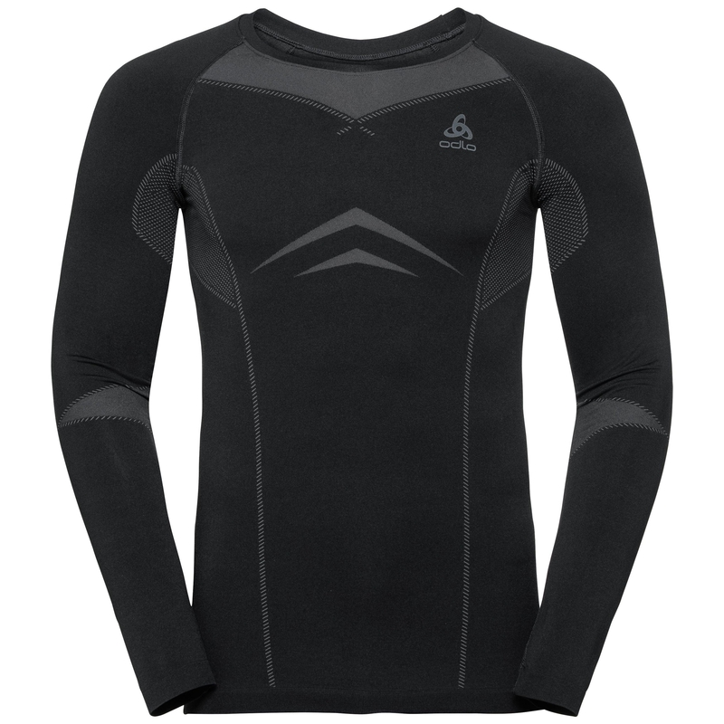 Men's PERFORMANCE EVOLUTION WARM Long-Sleeve Base Layer Top, black - odlo graphite grey, large