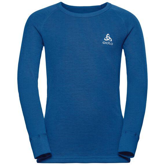 SUW Top Crew neck l/s ACTIVE ORIGINALS Warm Kids, energy blue, large