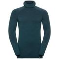 SUW Top Natural + Kinship Warm langärmeliges Oberteil mit Gesichtsmaske, blue coral melange, large