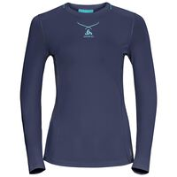 Ceramicool pro baselayer shirt longsleeve women, peacoat - blue radiance, large
