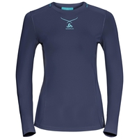 Langärmeliges CeramiCool Pro Baselayer Shirt Damen, peacoat - blue radiance, large