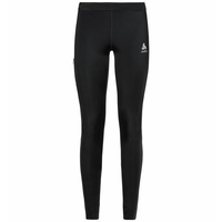 Women's DUAL DRY WATER RESISTANT Running Tights, black, large