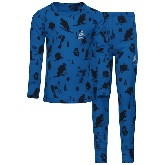 Active Originals Warm KIDS Set mit Print, energy blue, large