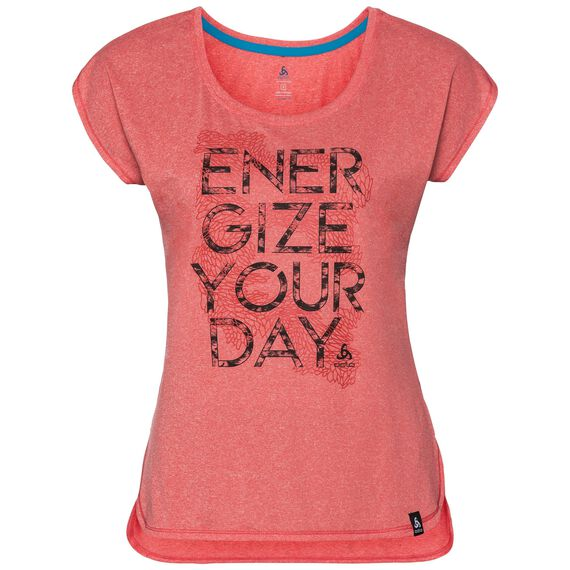 T-shirt s/s HELLE, dubarry melange - placed print SS18, large