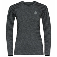 Women's ESSENTIAL SEAMLESS Long-Sleeve Running T-Shirt, grey melange, large