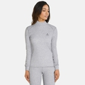 Women's ACTIVE WARM Turtle-Neck Long-Sleeve Base Layer Top, grey melange, large