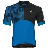 Shirt met opstaande kraag s/s EN volledige rits UMBRAIL Ceramicool X-Light, energy blue - black, large
