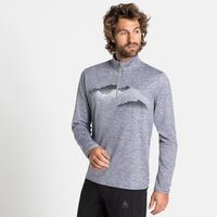 Men's TRAFOI 1/2 Zip Mid Layer, grey melange - graphic FW20, large