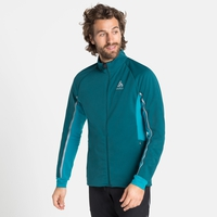 Men's AEOLUS PRO Cross-country Jacket, submerged - tumultuous sea, large
