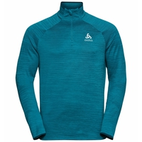 Men's MILLENNIUM ELEMENT Half-Zip Long-Sleeve Midlayer Top, tumultuous sea melange, large