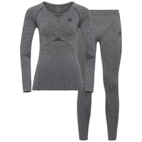 Women's PERFORMANCE EVOLUTION Baselayer Set, grey melange, large