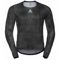 Men's ZEROWEIGHT CERAMIWARM Long-Sleeve Cycling Top, odlo graphite grey - black, large