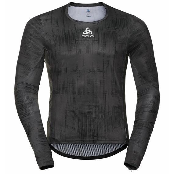 Top da ciclismo a manica lunga ZEROWEIGHT CERAMIWARM da uomo, odlo graphite grey - black, large