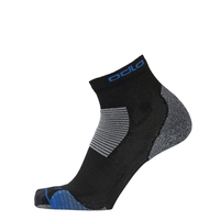 CERAMICOOL STABILIZER Quarter Socks, black - nebulas blue, large