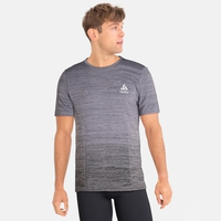 BL Top Crew neck s/s VIGOR Seamless, odlo steel grey - black, large