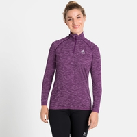 Women's MILLENNIUM YAKWARM Half-Zip Long-Sleeve Midlayer Top, charisma melange, large