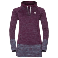 BRIANA seamless running hoody, pickled beet - blue radiance, large