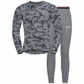 Set ACTIVE WARM Heritage, grey melange - AOP FW19, large
