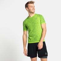 T-shirt de Running BLACKCOMB CERAMICOOL pour homme, lounge lizard - space dye, large