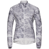 Women's ZEROWEIGHT Cycling Jacket, odlo silver grey - paper print, large