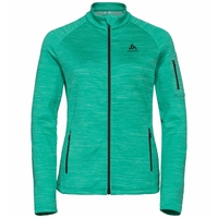 Midlayer full zip MYTHEN, pool green, large