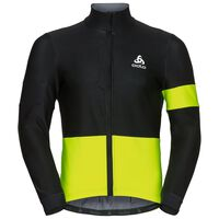 Jacket VLAANDEREN, black - safety yellow, large