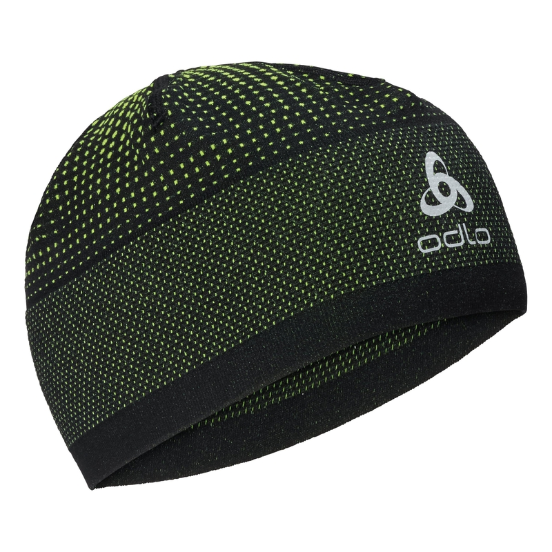 VELOCITY CERAMIWARM Hat, black - safety yellow, large