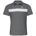 Men's NIKKO LIGHT Polo Shirt, odlo steel grey - white, large
