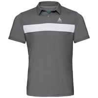 Polo k/m NIKKO LIGHT, odlo steel grey - white, large