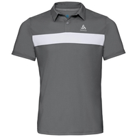 Herren NIKKO LIGHT Poloshirt, odlo steel grey - white, large