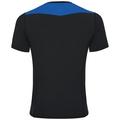 Basislaag top met Ronde hals k/m CeramiCool, black - energy blue, large