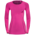 Evolution Warm Muscle Force baselayer shirt women, pink glo - peacoat, large
