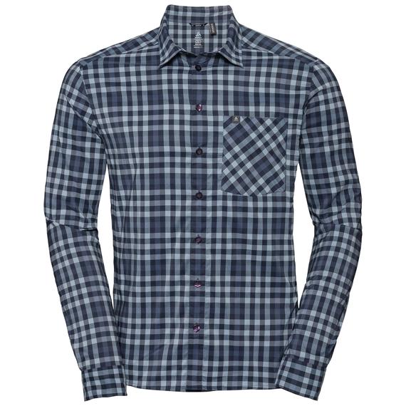 NIKKO CHECK Hemd, faded denim - blue indigo - diving navy - check, large