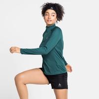 Women's ESSENTIAL Half-Zip Running Midlayer, balsam, large