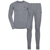 Men's ACTIVE WARM Long Sleeve Base Layer Set, grey melange, large