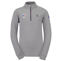 Midlayer 1/2 zip CARVE KIDS FAN FRANCE, odlo concrete grey melange, large