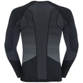 Shirt l/s crew neck ESSENTIALS seamless WARM - boxed, black - odlo concrete grey, large