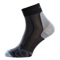 Socks quarter LIGHT, black - grey melange, large