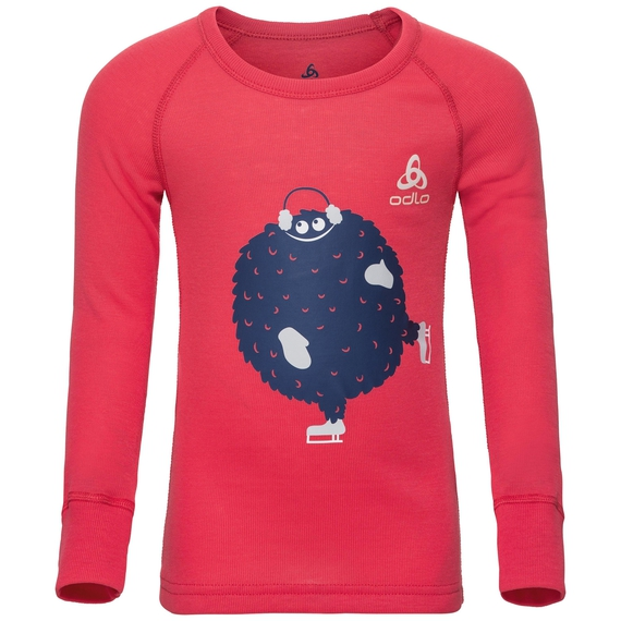 ACTIVE WARM TREND KIDS (SMALL) Funktionsunterwäsche Langarm-Shirt, hibiscus - placed print FW18, large