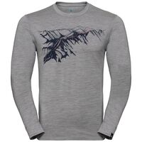 ALLIANCE Baselayer, grey melange - mountain print SS19, large